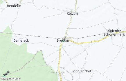Stadtplan Breddin