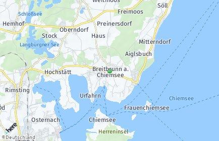 Stadtplan Breitbrunn am Chiemsee