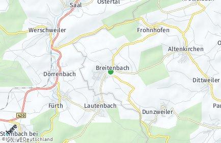 Stadtplan Breitenbach (Pfalz)