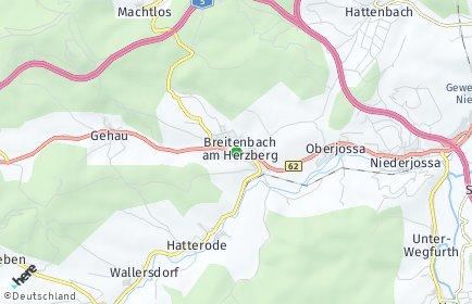 Stadtplan Breitenbach am Herzberg