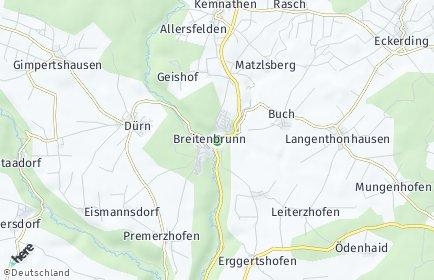Stadtplan Breitenbrunn (Oberpfalz)