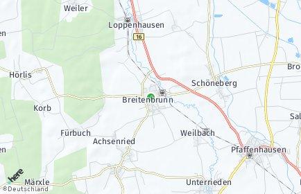 Stadtplan Breitenbrunn (Schwaben)