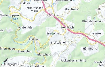 Stadtplan Breitscheid (Westerwald)