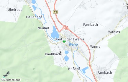 Stadtplan Breitungen/Werra