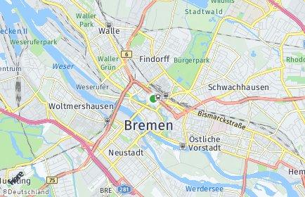 Stadtplan Bremen-Mitte OT Ostertor