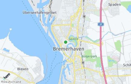 Stadtplan Bremerhaven OT Leherheide