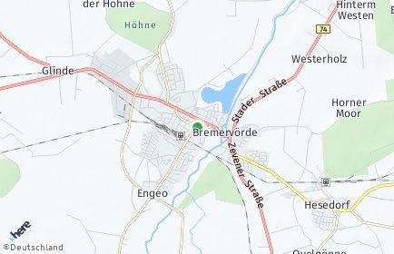 Stadtplan Bremervörde OT Mehedorf