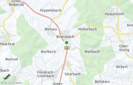 Stadtplan Brensbach