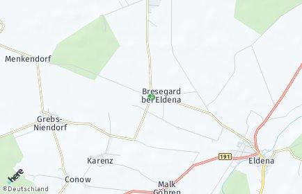 Stadtplan Bresegard bei Eldena