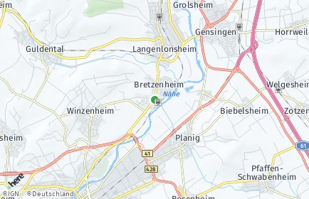 Stadtplan Bretzenheim
