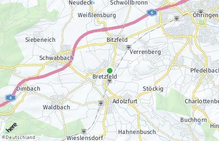 Stadtplan Bretzfeld