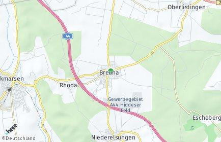 Stadtplan Breuna
