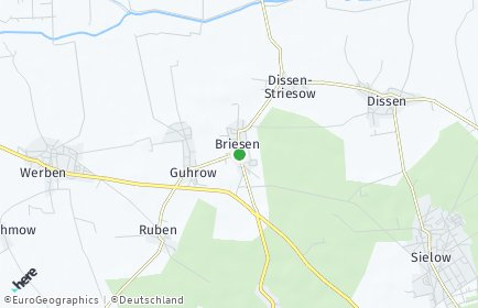 Stadtplan Briesen (Spreewald)