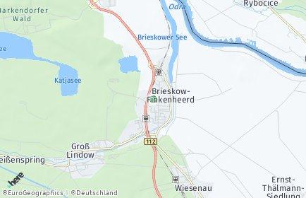 Stadtplan Brieskow-Finkenheerd