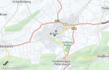 Stadtplan Brilon
