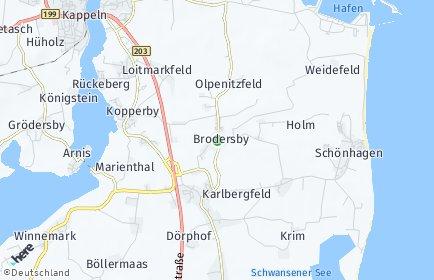 Stadtplan Brodersby (Schwansen)