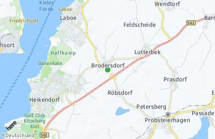 Stadtplan Brodersdorf