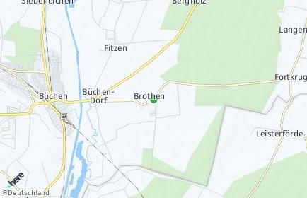 Stadtplan Bröthen