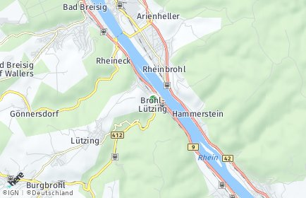 Stadtplan Brohl-Lützing
