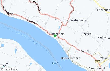 Stadtplan Brokdorf