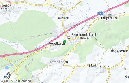 Stadtplan Bruchmühlbach-Miesau
