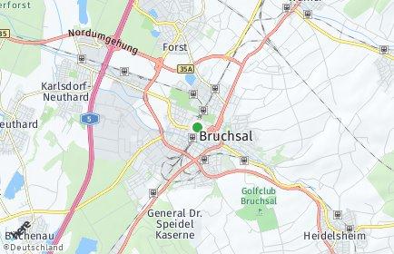 Stadtplan Bruchsal