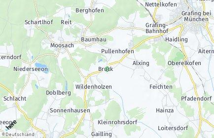 Stadtplan Bruck (Oberbayern)