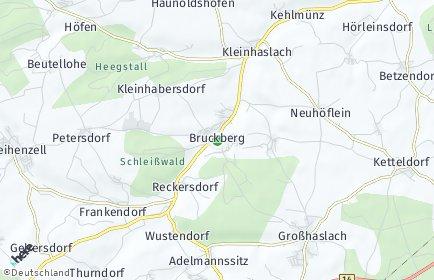 Stadtplan Bruckberg (Mittelfranken)