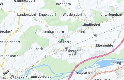 Stadtplan Bruckberg (Niederbayern)