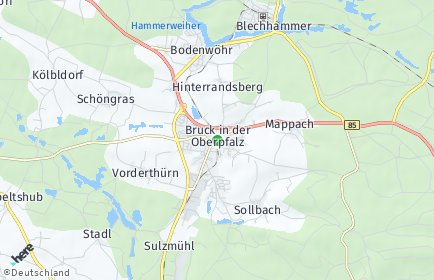 Stadtplan Bruck in der Oberpfalz
