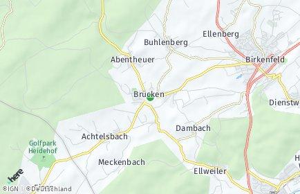 Stadtplan Brücken (Birkenfeld)