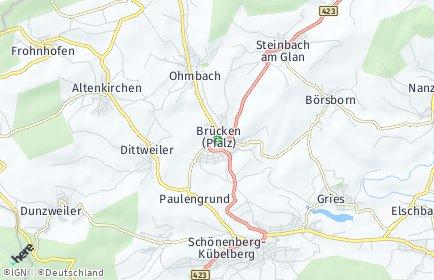 Stadtplan Brücken (Pfalz)