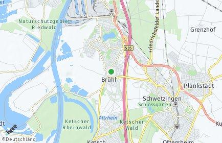 Stadtplan Brühl (Baden)