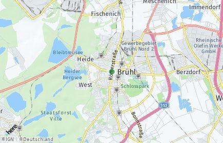 Stadtplan Brühl (Rheinland)