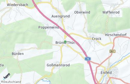 Stadtplan Brünn/Thüringen