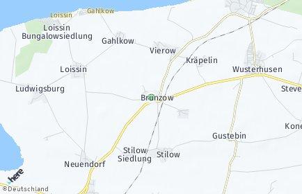 Stadtplan Brünzow