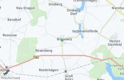 Stadtplan Brüsewitz