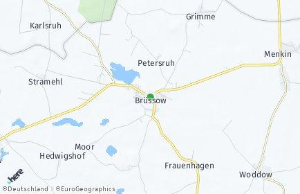 Stadtplan Brüssow