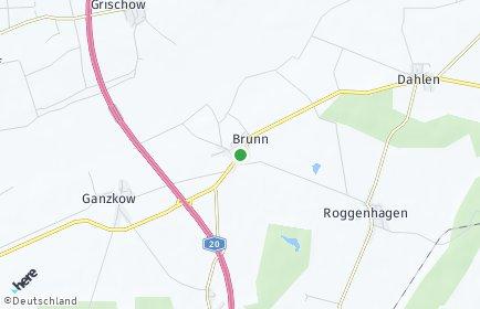 Stadtplan Brunn (Mecklenburg)