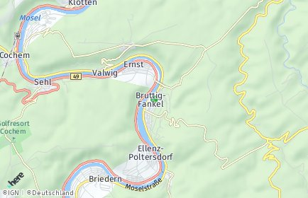 Stadtplan Bruttig-Fankel