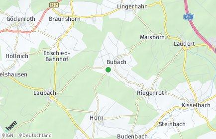 Stadtplan Bubach bei Kastellaun