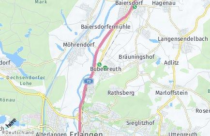 Stadtplan Bubenreuth