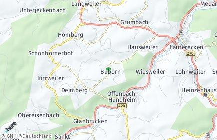 Stadtplan Buborn