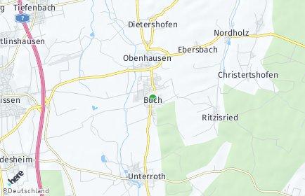 Stadtplan Buch (Schwaben)