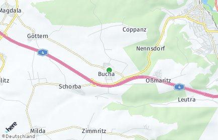 Stadtplan Bucha bei Jena