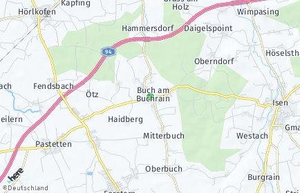 Stadtplan Buch am Buchrain
