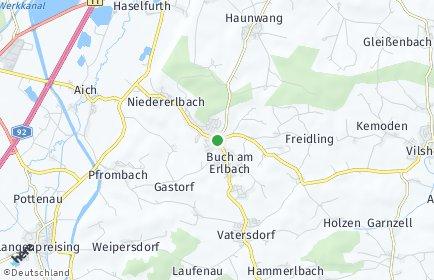 Stadtplan Buch am Erlbach