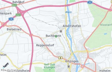 Stadtplan Buchbrunn