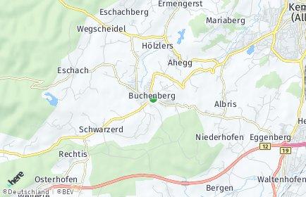 Stadtplan Buchenberg