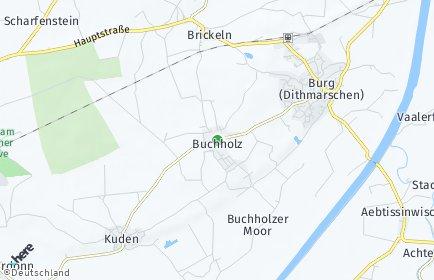 Stadtplan Buchholz (Dithmarschen)